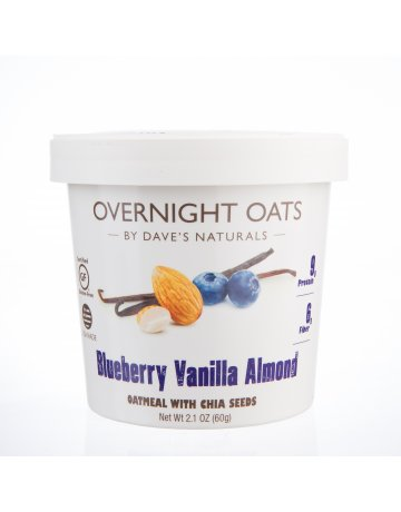 Oats Blueberry Vanilla Almond (Oatmeal with Chia Seeds)